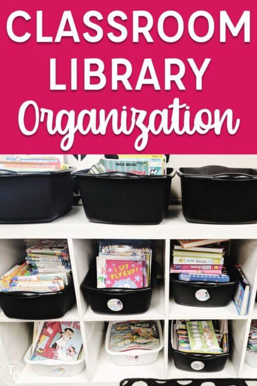 Classroom Library organization book bin collection