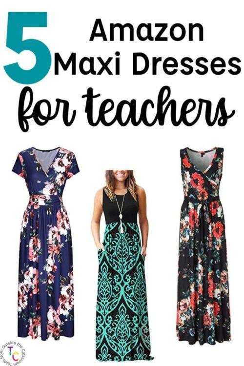 5 Amazon maxi dresses for teachers