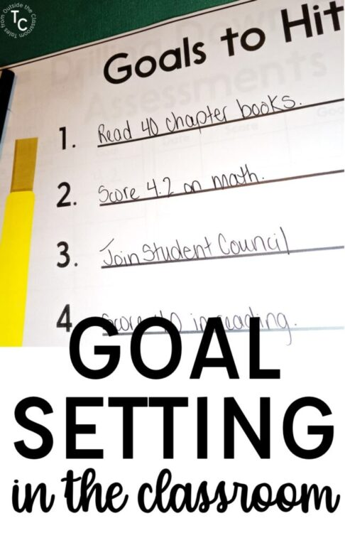 Goal setting in the classroom with goals sheet