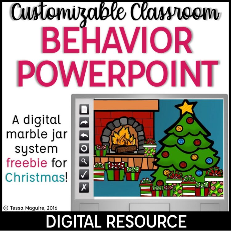 Christmas Behavior Powerpoint freebie cover