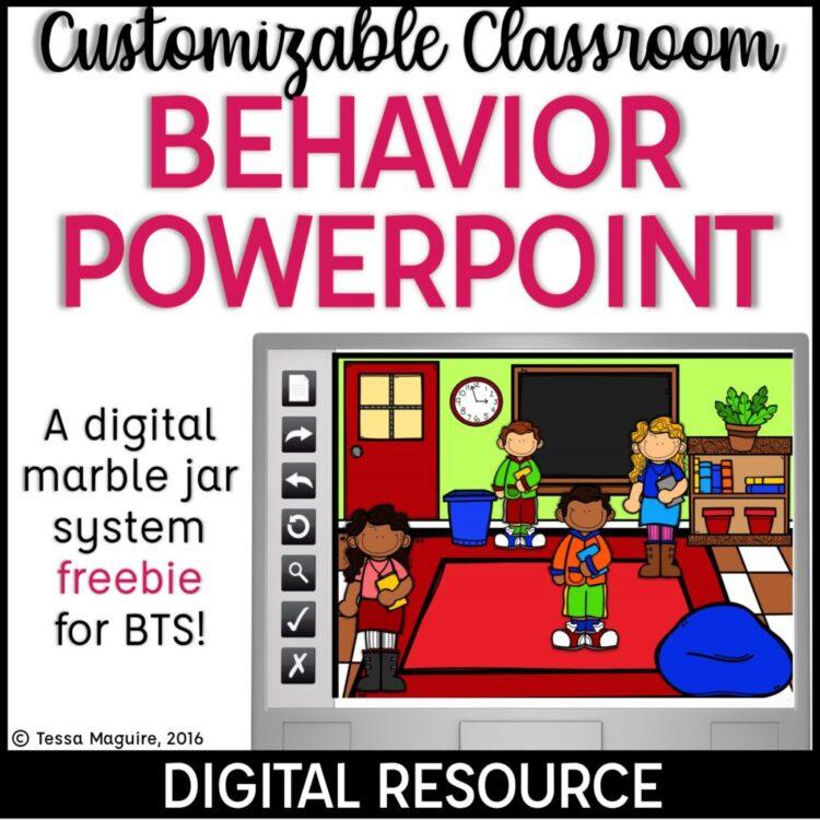 Back to School Behavior Reward Powerpoint freebie cover