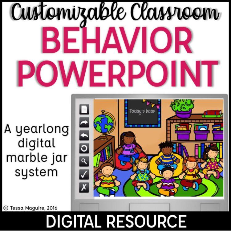 Customaizable Classroom Behavior Reward Powerpoint cover photo