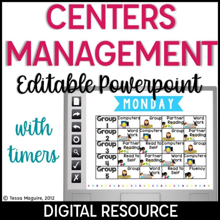 Centers Rotation Management with an Editable Powerpoint