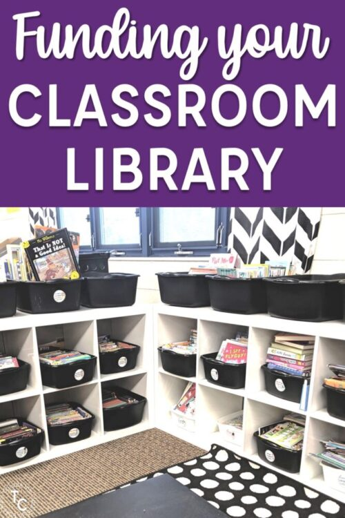 Funding your classroom library text with library image