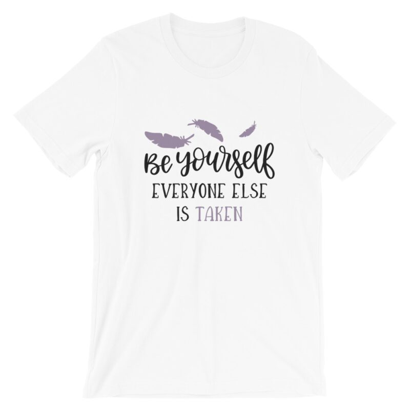 White Be Yourself tee