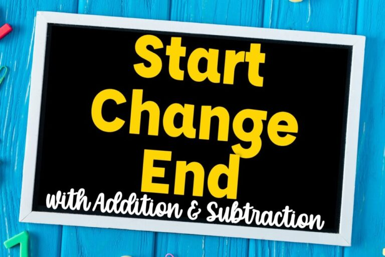 Start Change End with Addition and Subtraction on velvet board
