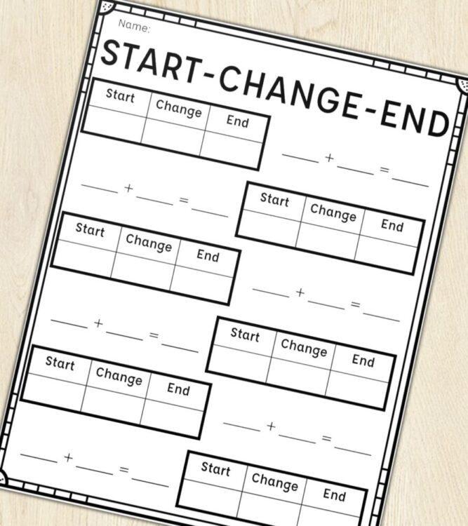 Start Change End Printables