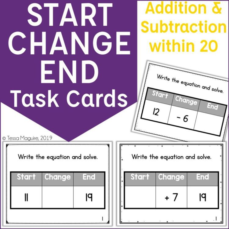 Start Change End within 20 task cards