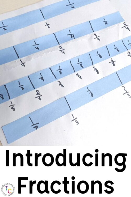 Introducing Fractions with fraction strips
