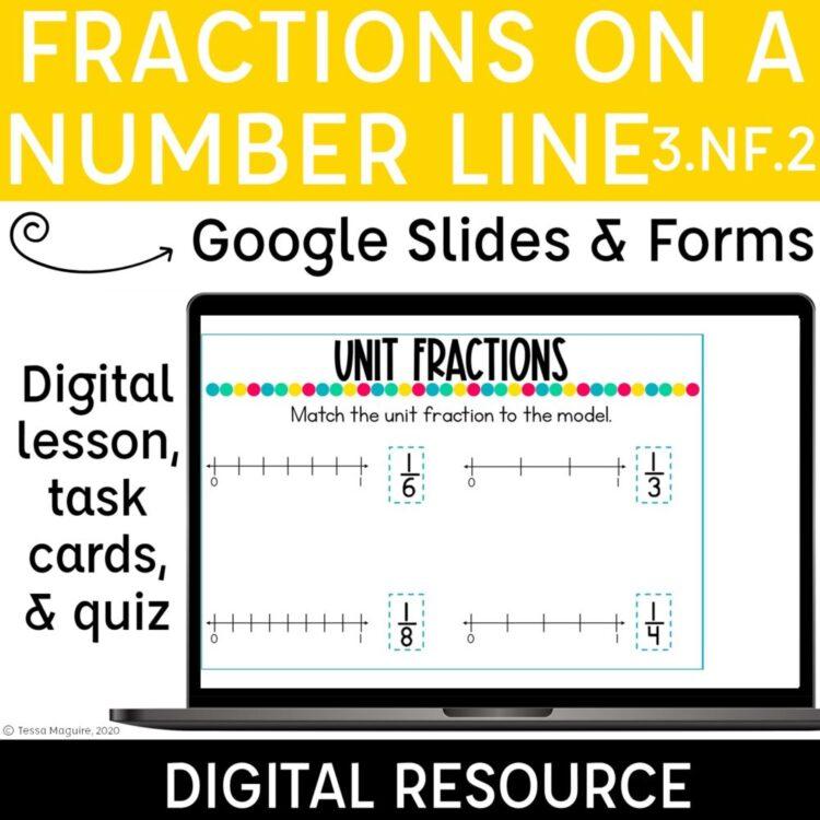 Fractions on a Number Line digital resources