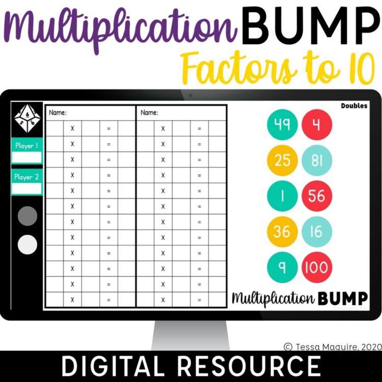 Digital Multiplication Bump Factors to 10