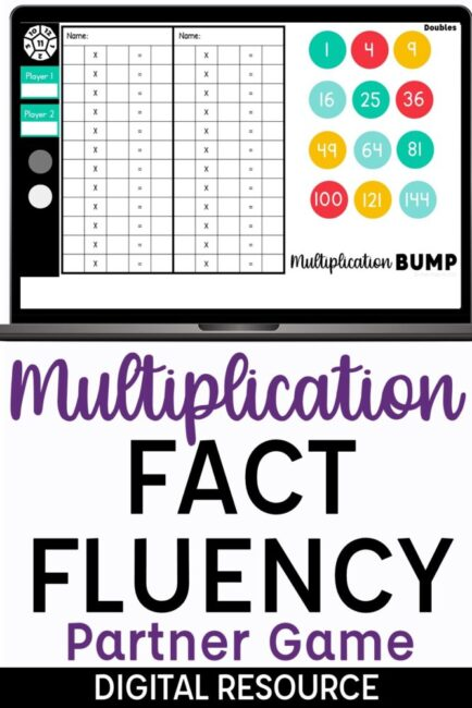 Multiplication Bump Digital Partner Game for Google Slides Multiplication Game
