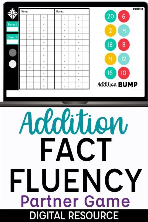Addition Fact Fluency Partner Game on Google Slides