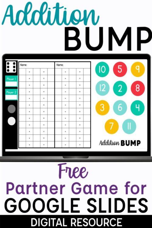Digital Addition Bump Game Free Partner Game