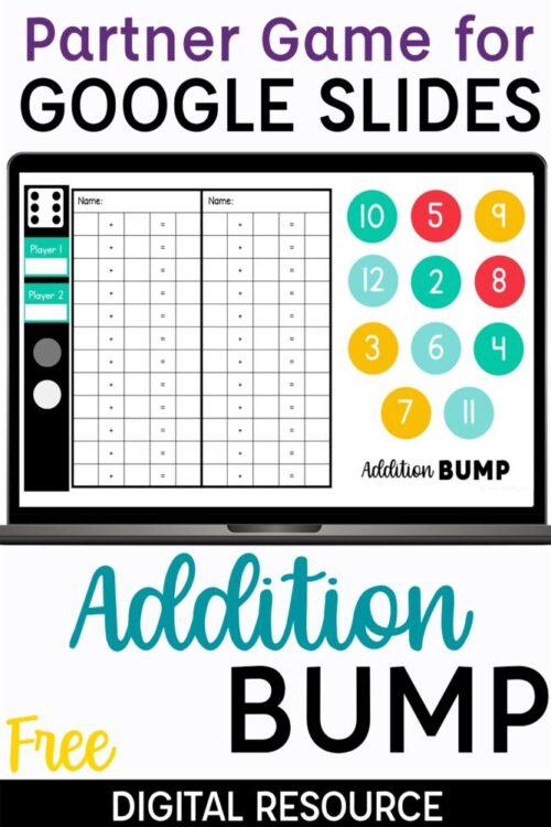 Free Digital Addition Partner Game | Addition Bump