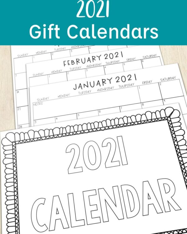2021 Printable Calendar Gifts for Parents