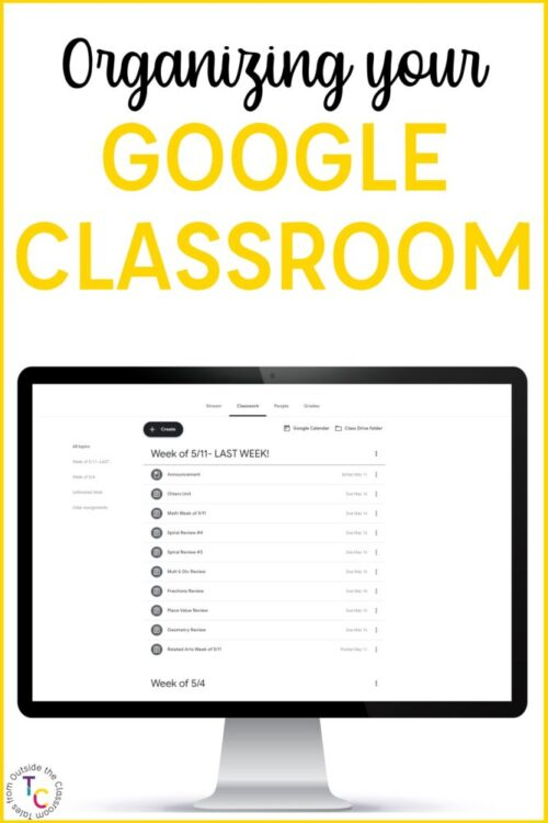 Organizing Google Classroom for the elementary grades