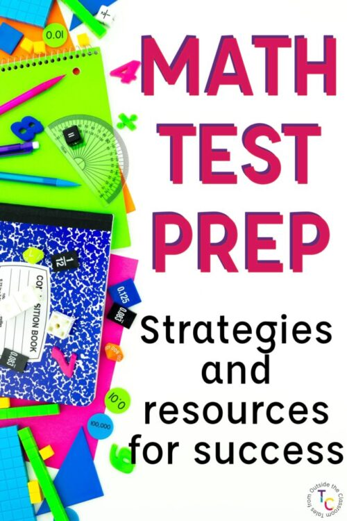 Math test prep strategies and resources text with math manipulatives