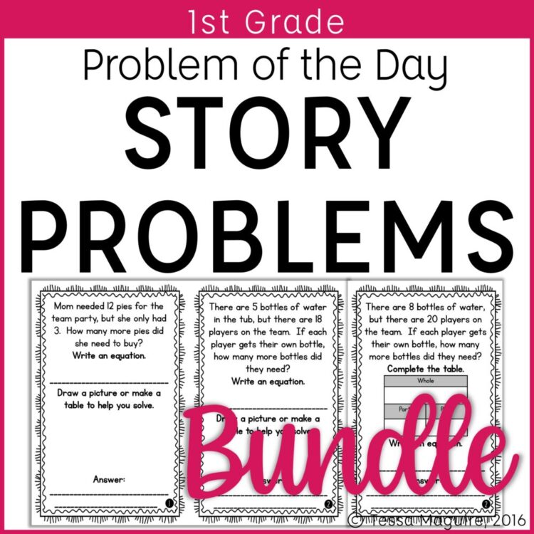 1st Grade Word Problem of the Day Story Problems bundle