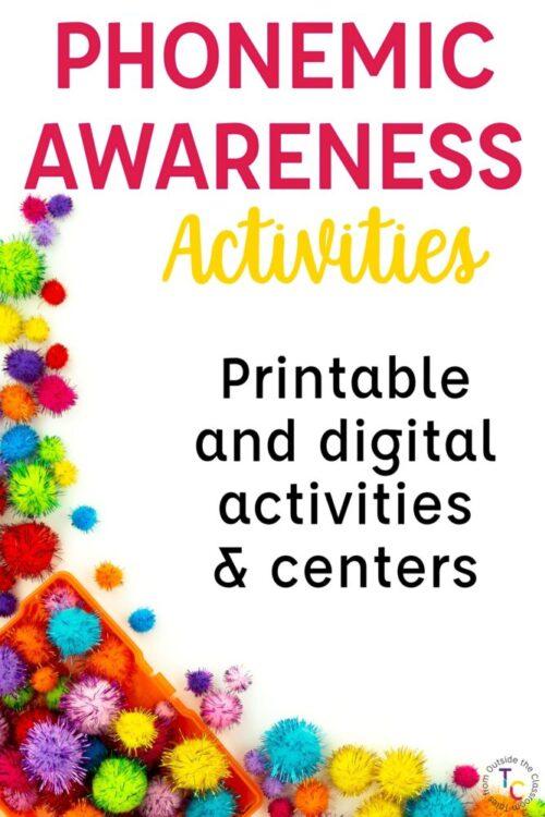 Phonemic Awareness Activities: Printable and digital activities & centers