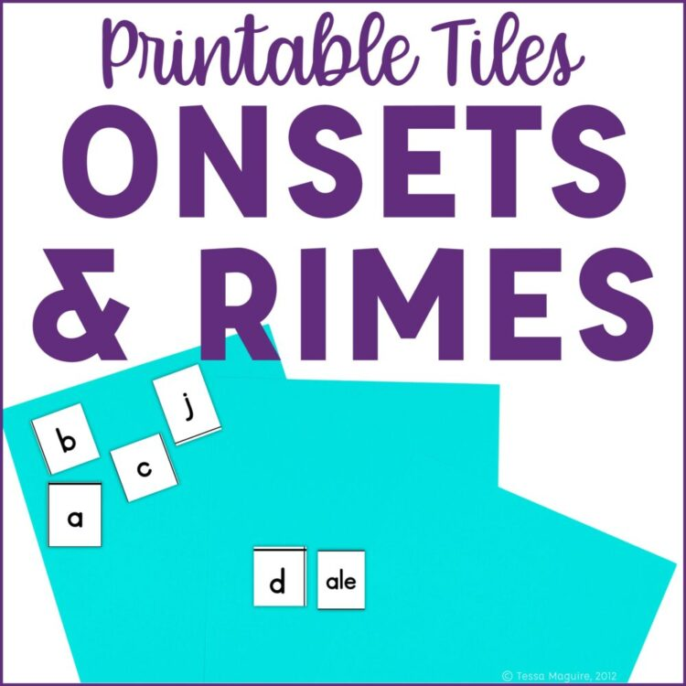 Printable letter tiles with word families- perfect for word work