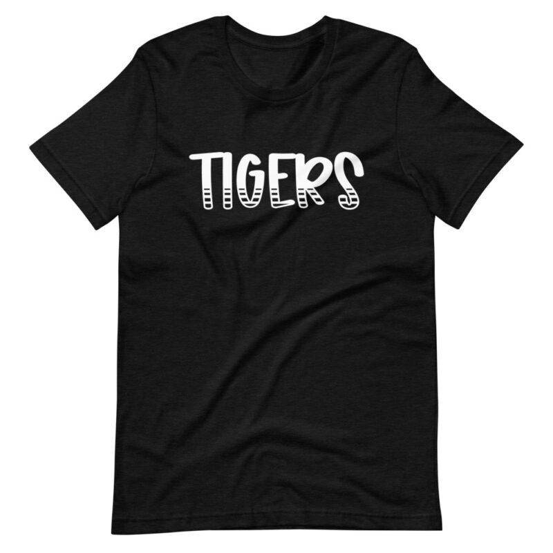 Heather Black Tigers School Spirit tee for Teachers