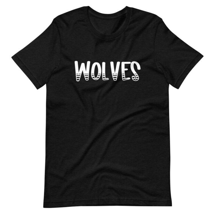 Heather Black Wolves Mascot school spirit tee