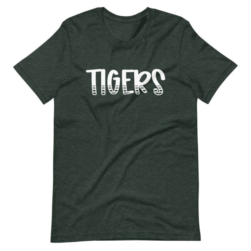 Heather Forest Green Tigers T-Shirt for teachers and school staff