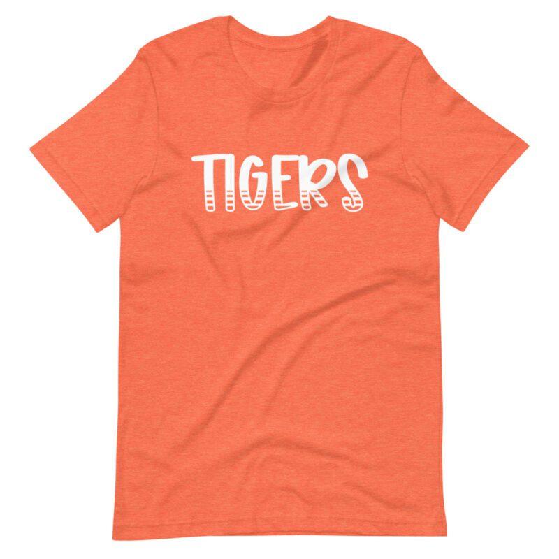 Heather Orange Tigers T-shirt mascot tees for school spirit days