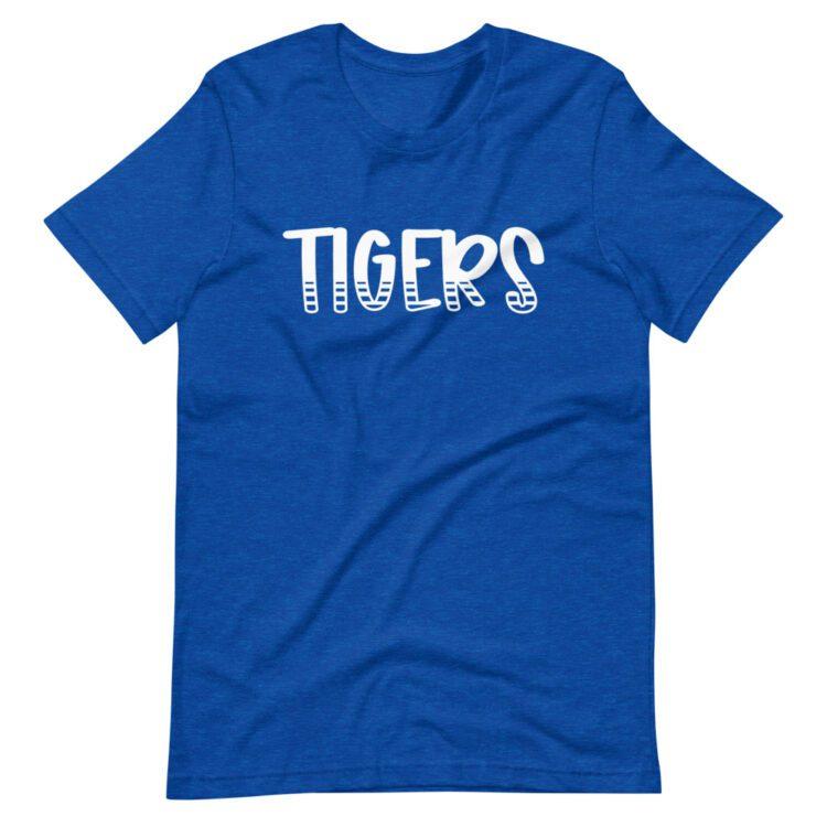 Royal Blue Tigers Teacher Tee for School Spirit Days