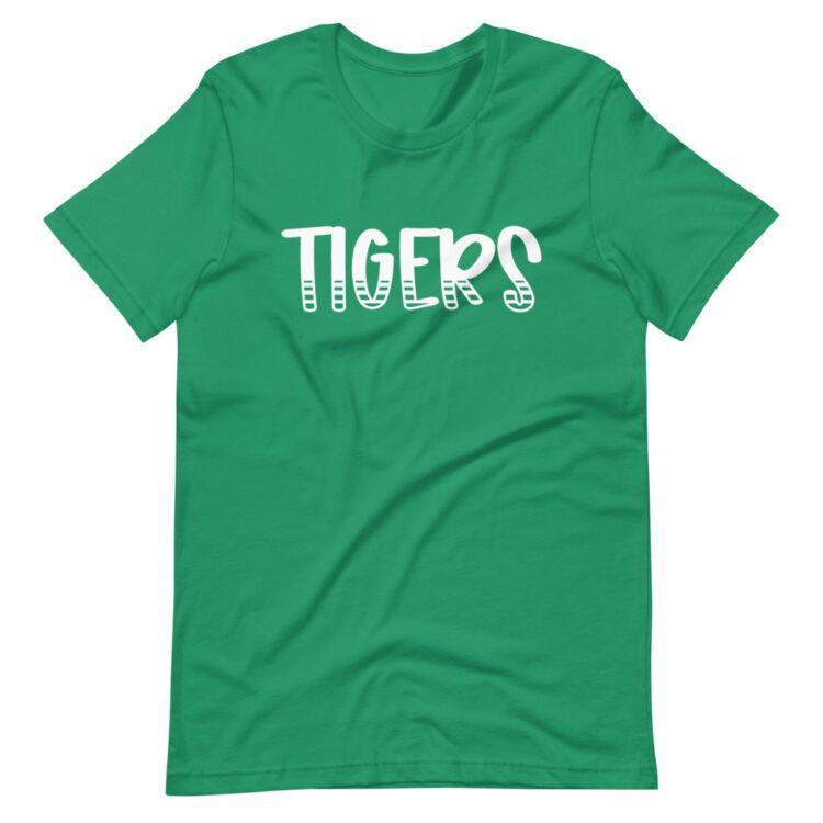 Kelly Green Tigers Tee mascot t-shirt