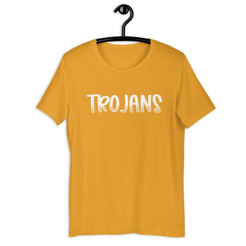 Mustard Yellow Trojans t-shirt for teachers