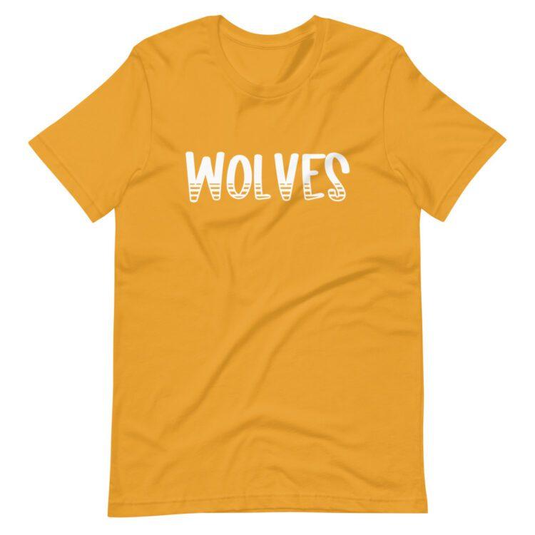 Gold Wolves Mascot tee for school spirit days