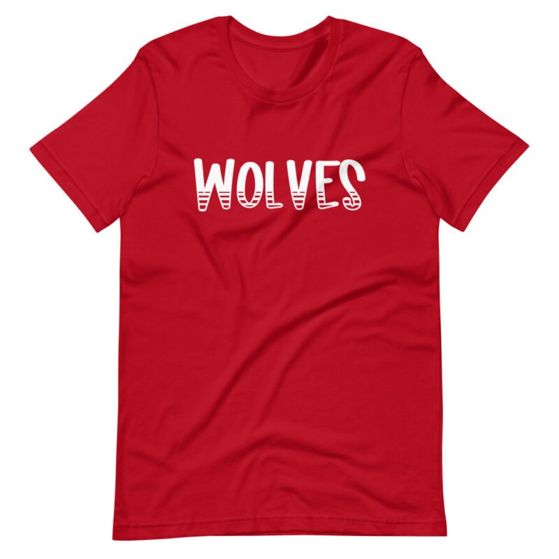 Red Wolves school spirit tee mascot wear