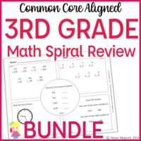 3rd math spiral reviewe